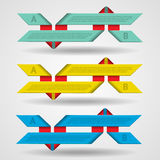 Modern set of ribbons infographics Stock Photo
