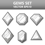 Modern set of silver gems for website or mobile application. Bright and stylish elements for you design. Modern set of silver gems for website or mobile stock illustration