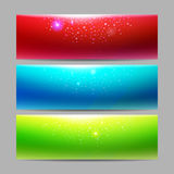 Modern set of vector banners with majic lights Stock Photo