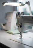 Modern sewing machine. Royalty Free Stock Photos