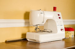 Modern sewing machine Royalty Free Stock Images
