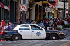Modern SFPD cruiser in Powell St. San Francisco Royalty Free Stock Photography