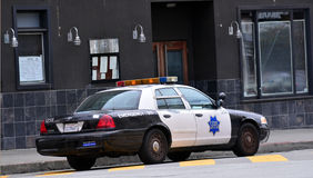 Modern SFPD cruiser in San Francisco - California Royalty Free Stock Photography
