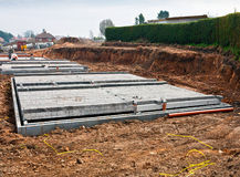 Modern shallow foundations Royalty Free Stock Image