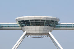 Modern Shanghai airport. Detail of top restaurant at the Shanghai airport in Pudong Stock Image