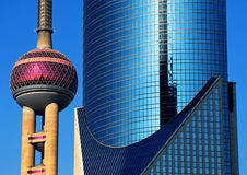 Modern Shanghai Architecture Downtown Urban Concept Stock Image