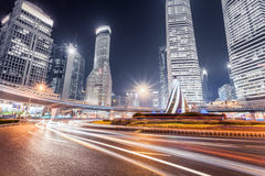 Modern shanghai at night Royalty Free Stock Image