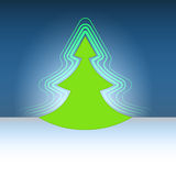 Modern shape christmas green tree flare Royalty Free Stock Photography
