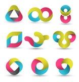 Modern shape set. Vector illustration. Stock Photography