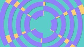 Modern shape transitions spiral in flat design animation