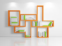 Modern shelf. Royalty Free Stock Photography