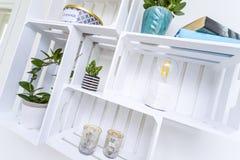 Modern shelf Royalty Free Stock Photography