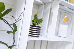 Modern shelf Royalty Free Stock Photo