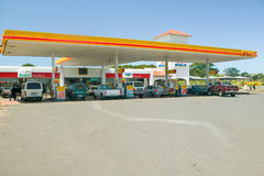 Modern Shell gasoline station in Zululand South Africa Stock Image