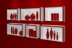 modern shelves Στοκ Φωτογραφία
