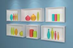 modern shelves Στοκ εικόνες με δικαίωμα ελεύθερης χρήσης