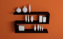 modern shelves Στοκ Εικόνες