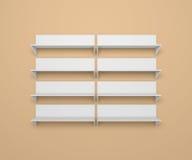 Modern shelves Royalty Free Stock Images