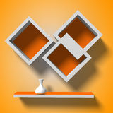 Modern shelves template for your design Royalty Free Stock Photography