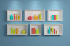 Modern shelves. Stock Photos