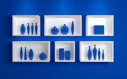 Modern shelves. Stock Images