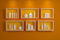 Modern shelves. Royalty Free Stock Photo