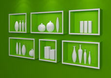 Modern shelves. Royalty Free Stock Image