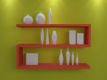 Modern shelves. Stock Image