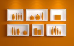 Modern shelves. Royalty Free Stock Images