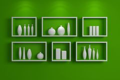Modern shelves. Stock Photography