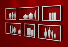Modern shelves. Royalty Free Stock Photos