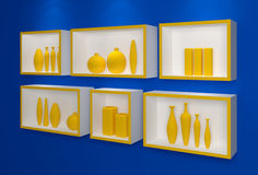 Modern shelves. Royalty Free Stock Photography