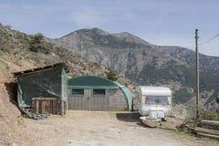 Modern shepherd's hut Stock Photos