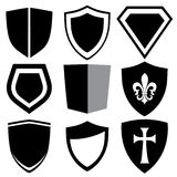 Modern shield collection Royalty Free Stock Photo