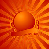 Modern shield orange Stock Image