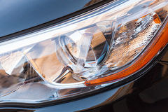 Modern shining car headlight with LED lamps Stock Images
