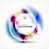 Modern shiny blurred swirl template. Vector layout for message presentation Royalty Free Stock Photography