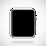 Modern shiny smart watch  on white Stock Photography