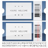 Modern shiny tickets Stock Photography