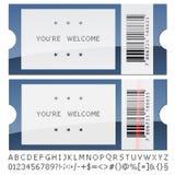 Modern shiny tickets Stock Photography