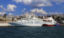 Modern ship in Golden Horn bay. Stock Photography
