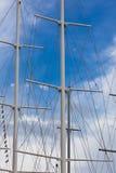 Modern Ship masts without sails Stock Photos