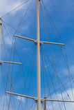 Modern Ship masts without sails Royalty Free Stock Image