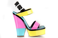 Modern shoes on the white background Royalty Free Stock Photography
