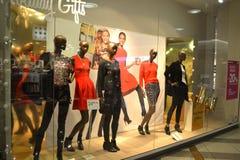 Modern shop dressy showcase Royalty Free Stock Photography