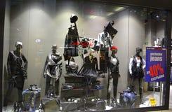 Modern shop dressy showcase Stock Images