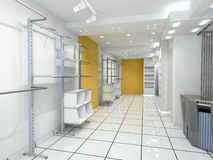 Modern shop Interior Royalty Free Stock Images