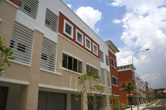 Modern Shophouses Royalty Free Stock Photography