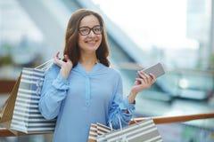 Modern shopper Stock Image