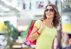 Modern shopper Royalty Free Stock Images